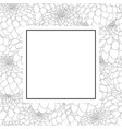 dahlia outline banner card vector image vector image
