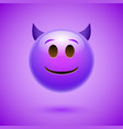 emoji crtoon devil bad face angry or happy vector image