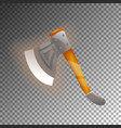 fantasy medieval axe isolated game element vector image vector image