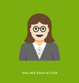 Flat design business concept Online lessons vector image