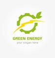 green energy bolt company vector image