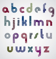Grunge colorful rubbed lower case letters vector image vector image