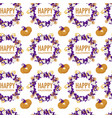 halloween holiday symbols autumn event seamless vector image vector image