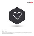 heart icon hexa white background icon template vector image