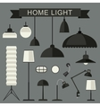 Home lamps icons vector image vector image