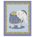 Indian elephant posing vector image vector image