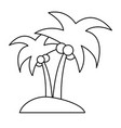isolated island with palm tree icon image vector image vector image
