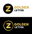 Letter Z logo icon design template elements vector image vector image