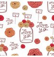 lovely pattern background hand drawn fabric vector image vector image