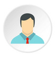 male avatar with shirt and tie icon circle vector image vector image