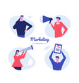 marketing - flat design style characters vector image