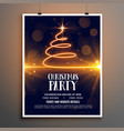 merry christmas party celebration beautiful flyer vector image