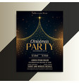 merry christmas tree party flyer card template vector image