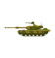 military tank heavy camouflage special machinery vector image