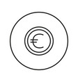 money sign coin euro vector image vector image