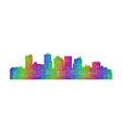 Phoenix skyline silhouette - multicolor line art vector image vector image