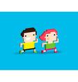 Pixel Runners vector image vector image