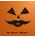 pumpkin portrait with mustache for vector image