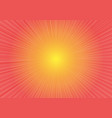 radial zoom speed on red yellow gradient vector image