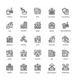 real estate creative icons pack vector image