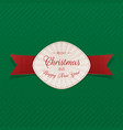 realistic greeting merry christmas emblem vector image