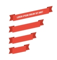 Red web ribbon banners set vector image vector image