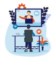 remote team working meeting online or work from vector image vector image