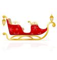 santa claus sleigh 01 vector image vector image