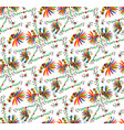 seamless ethnic mexican embroidery background vector image