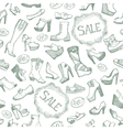Seamless shoes background vector image
