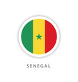senegal circle flag template design vector image vector image