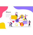 share concept sharing work files and documents vector image