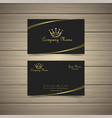 simple gold business card vector image vector image