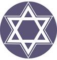 Star david hexagon star icon