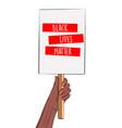 stop racism vertical banner black lives matter vector image vector image