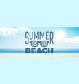 summer background sunshine realistic clouds vector image