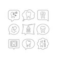 tooth dental crown and mouthwash icons caries vector image