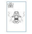 tracing lines game for preschool or kinder vector image vector image