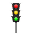 traffic lights with all lamps vector image