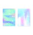 unicorn background with kawaii magic gradient vector image vector image