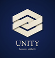 unity paper icon design template vector image vector image