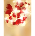 Valentines Red Abstract vector image vector image