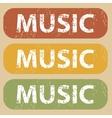 Vintage MUSIC stamp set vector image