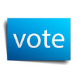 vote blue paper sign isolated on white vector image