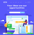 web site design template video content vector image vector image