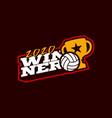 winner volleyball logo modern professional vector image vector image