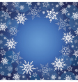 winter background wallpaper with snowflakes vector image vector image