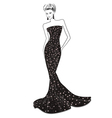 Woman in long evening dress vector image vector image