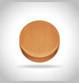 wooden app icon on gradient background vector image vector image