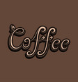 word of coffee vector image vector image
